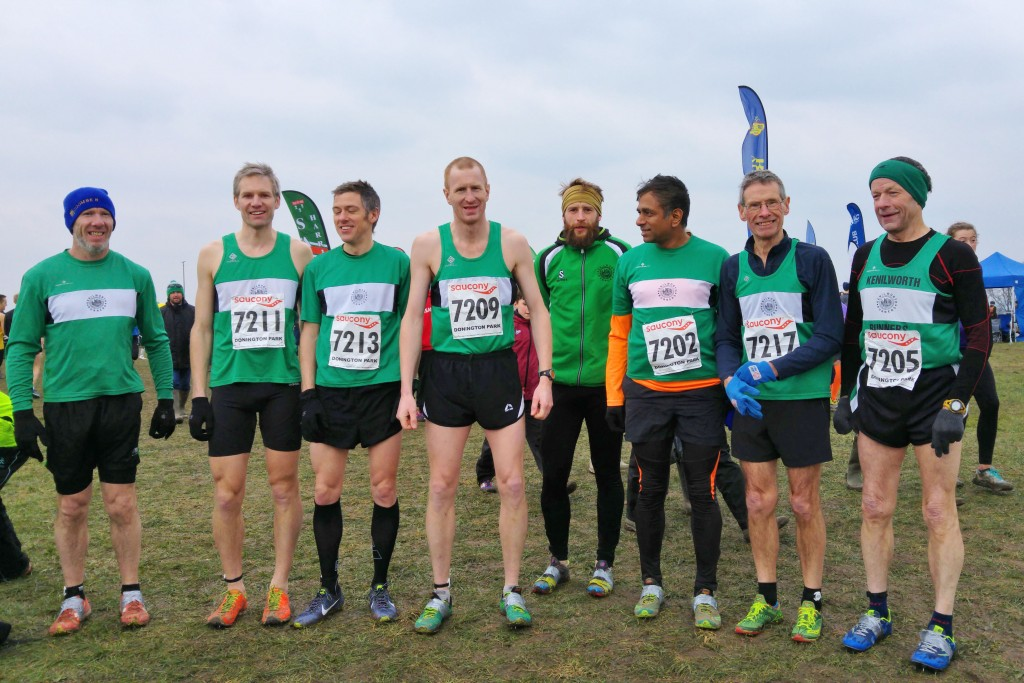 Me and members of Kenilworth Runners. at the English National Cross Country Championships.