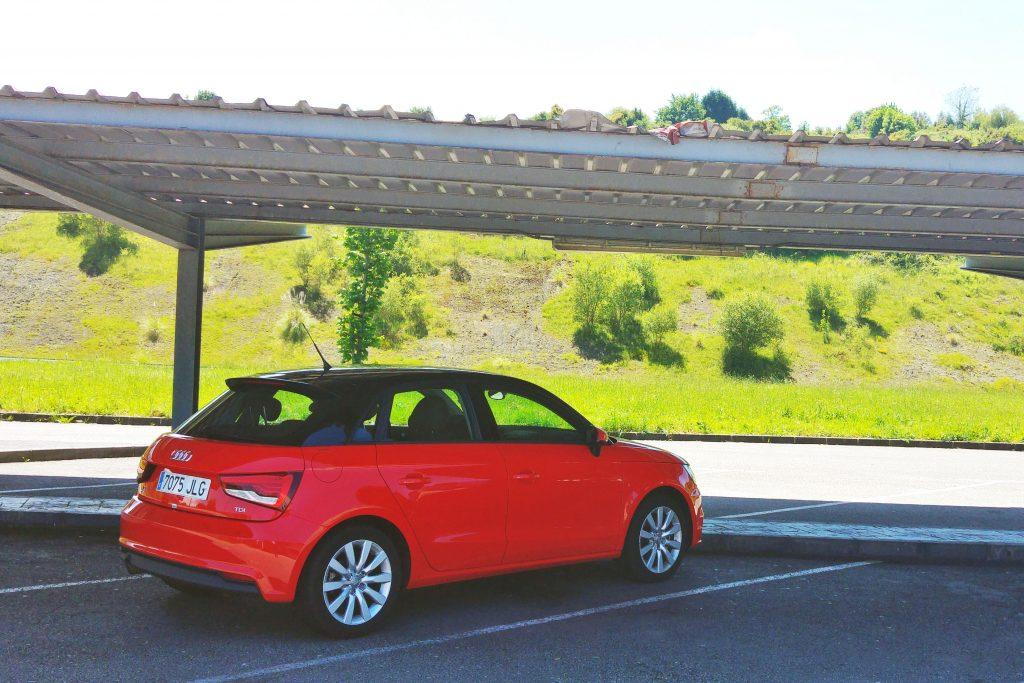 The Audi A1 hire car.