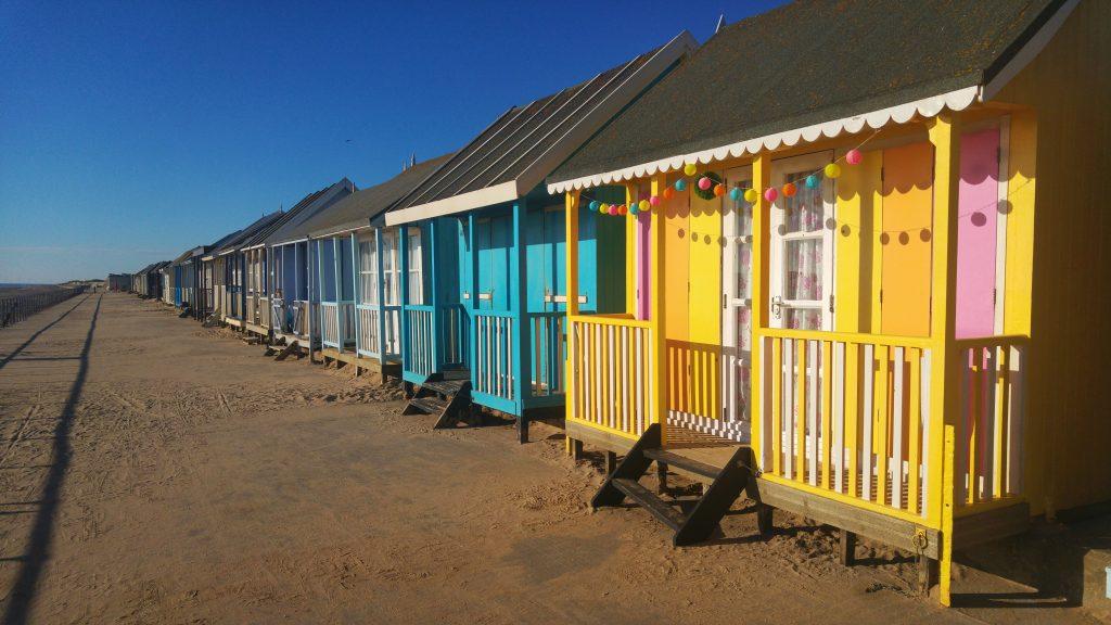 Morning run - Sutton On Sea beach huts. Sutton on Sea Caravan Site, Saturday 6th August 2016.