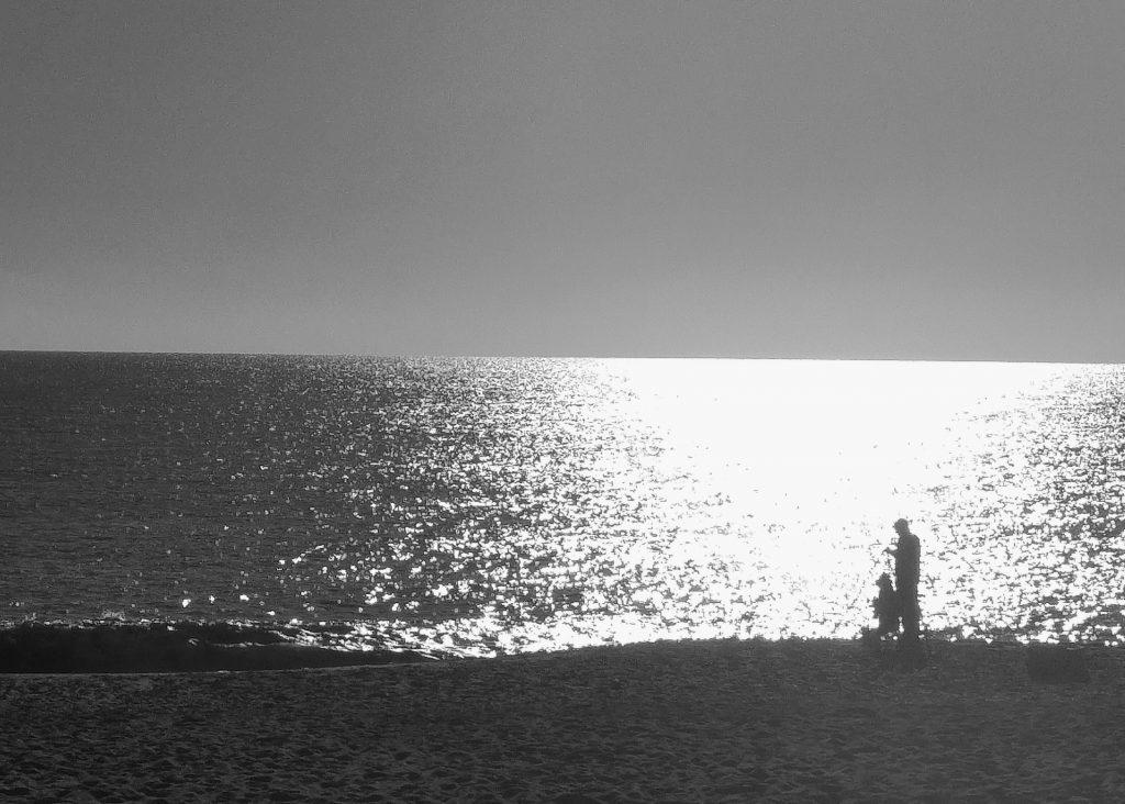 Morning run - Sutton On Sea - fishermen. Sutton on Sea Caravan Site, Saturday 6th August 2016.