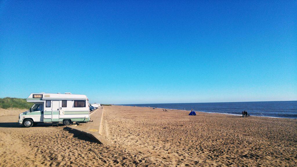 Morning run - Huttoft beach. Sutton on Sea Caravan Site, Saturday 6th August 2016.