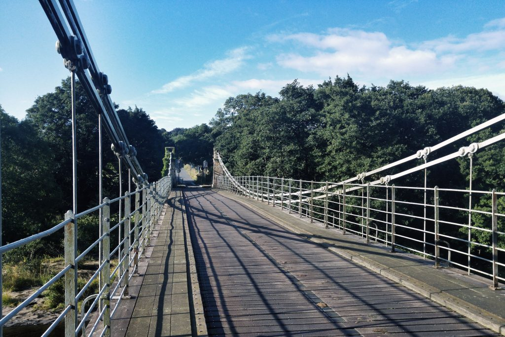 Morning run - Whorlton Suspension Bridge. Teesdale Barnard Castle Caravan Site, Wednesday 10th August 2016.