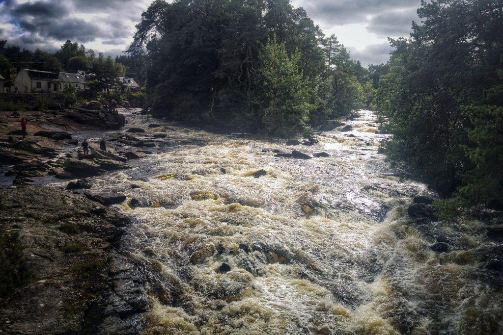 Killin afternoon long run on Cycle Route 7 - Falls of Dochart. Killin, Maragowan Caravan Site, Sunday 14th August 2016.
