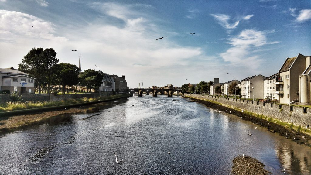 Afternoon run in Ayr - Bridge over River Ayr near town centre. Ayr Craigie Gardens Caravan Site, Wednesday 17th August 2016.