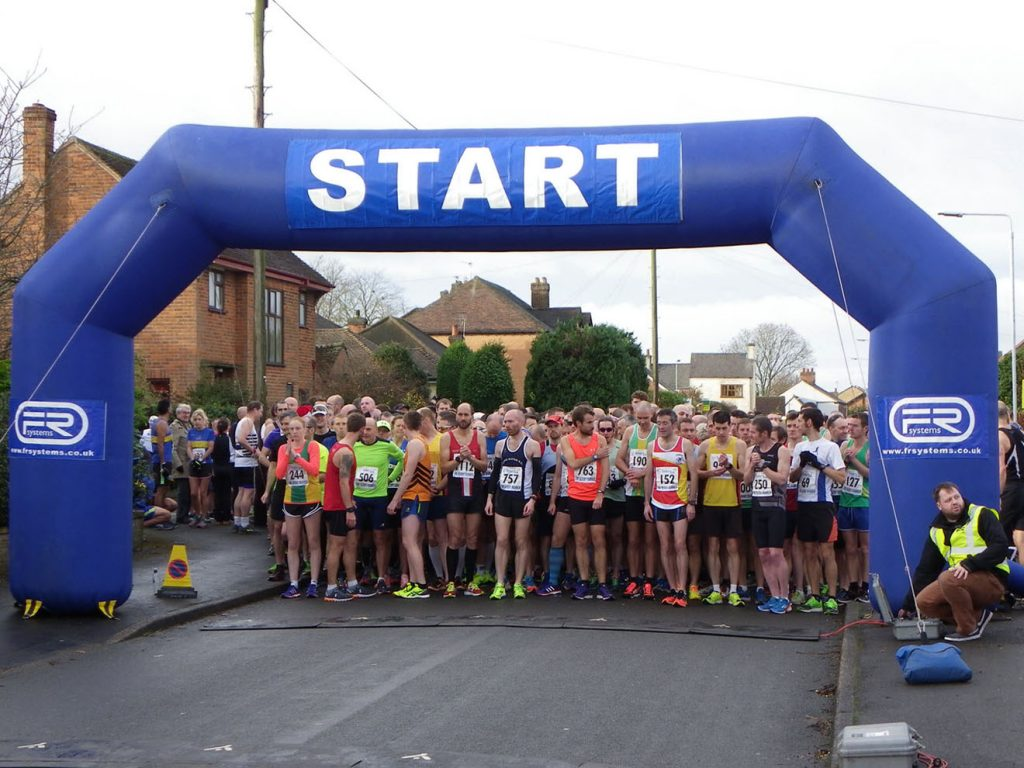 The start of the Keyworth Turkey Trot, held on Sunday December 11th 2016.